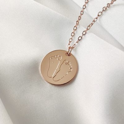 Footprint Baby Necklace